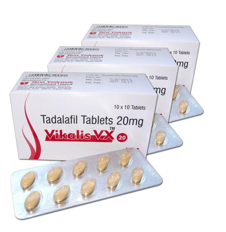 5 x confezione Vidalista 20mg (50 compresse